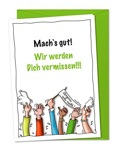 XL-Karte zum Abschied, zur Verabschiedung, zur Rente, zum Ruhestand inkl. Umschlag (DIN A5)
