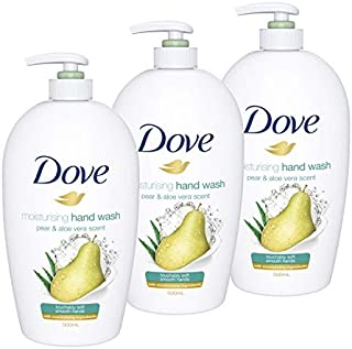 Dove Hand Wash Pear And Aloe, 3 x 500ml