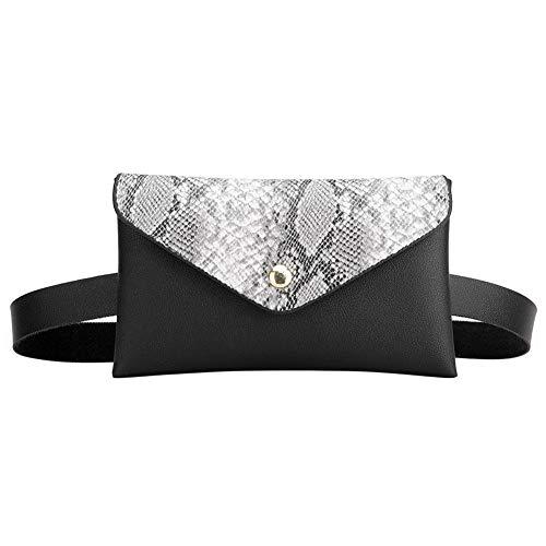 Mochila feminina com estampa de cobra da Diamondo-us, bolsa tiracolo para celular, bolsa de couro PU com aba transversal e bolsa de peito tipo mensageiro casual