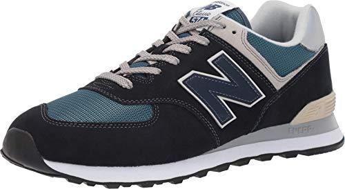 New Balance Men's 574 V2 Essential Sneaker, Dark Navy/Marred Blue, 10 M US