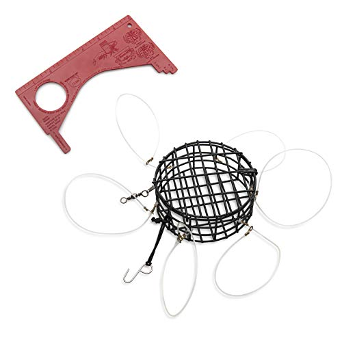 JEFFOS Durable Crab Snare Premium 6 Loop Weighted Crab Snare Trap Complete with Dungeness Crab Gauge