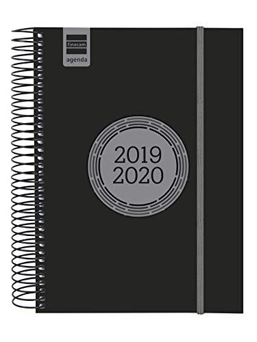 Finocam - Agenda 2019-2020 1 día página catalán Espir Label Negro