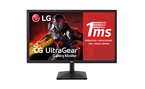 LG 24MK400H-B - Monitor Gaming de 59,8 cm (23.8') Full HD (1920 x 1080, TN, 16:9, HDMI x1, D-SUB x1, AUX x1, 1ms, Antireflejo), Negro