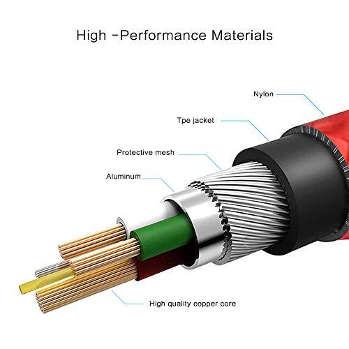 LTDNB USB C Kabel, Typ C Kabel [3 Stück 1m+1m+2m] Datenkabel Nylon USB Type C Ladekabel für Samsung Galaxy S9/ S8/ Note 9/8, LG G5/ G6/ V30, Huawei P9/ P10/ Mate9/ 10 Und alle Geräte vom Typ C