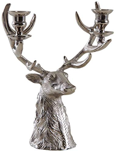 Inconnu Bougeoir tête de cerf en Aluminium