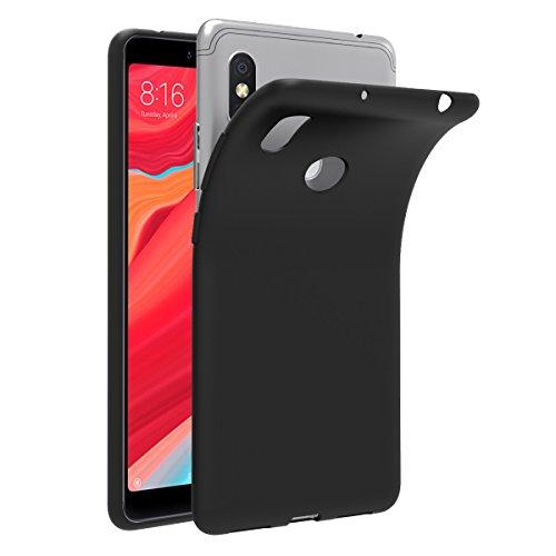 ivoler Hülle für Xiaomi Redmi S2, Premium Schwarz Tasche Schutzhülle Weiche TPU Silikon Gel Schutzhülle Hülle Cover für Xiaomi Redmi S2