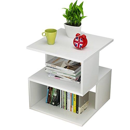 NYDZ Table de Rangement de Salon, Mini-Table de Bureau Minimaliste, Blanc