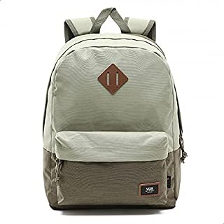 Vans Old School Plus Two-Tone Front Stitched Logo Zip-up Backpack for Men - Oil