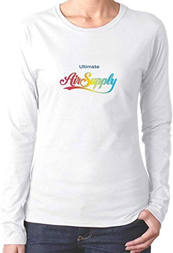 Air Sup Ply Fashionable Funny Long Sleeve Cotton Tshirt Shirt for Women Black