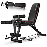 Strength Training Multi-Function Fitness Bench, Weight Bench with Leg Extension and Leg Curl, Adjustable Workout Bench, Dumbbell Bench Home Gym Equipment for Men Women