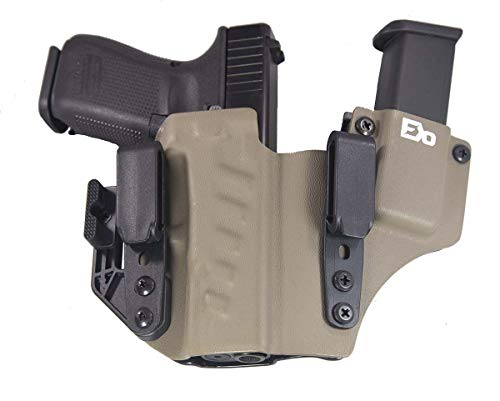 Fierce Defender IWB Kydex Holster Compatible with Glock 19 23 32 +1 Series w/Claw -Made in USA- Gen 5 Compatible (Flat Dark Earth)