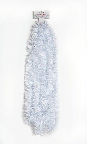 Girlande 270 x 7,5cm weiß-Zauberhaftes-Glitzern-u-Funkeln-am-Weihnachtsbaum Gir glitzernde/funkelnde Atmosphäre auf Ihrem Weihnachtsbaum