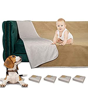 W-ZONE Waterproof Dog Bed Cover Pet Blanket for Furniture Bed Couch Sofa Reversible