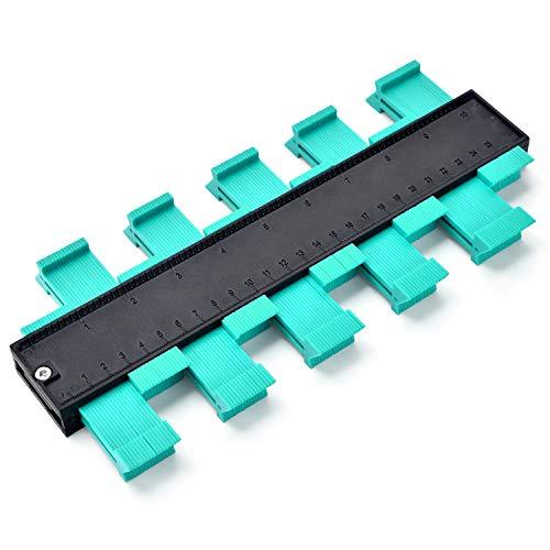 Konturenlehre 10\'\'/260MM | Fliesen Laminat Duplikator Wickelrohre Holzarbeitung Markierungswerkzeug | Profil Kopierer mit Skala unregelmäßiges Konturmessgerät für präzise Messung (10 Zoll / 26 cm)