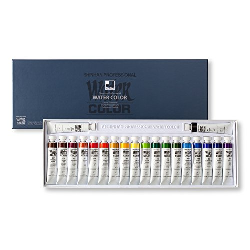 SHINHAN Professional Watercolor Paint 12ml Tubes 20 Color Set
