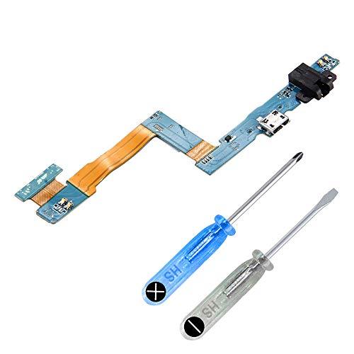MMOBIEL Puerto de Carga Compatible con Samsung Galaxy Tab A 9.7 SM-T550T555 con Conector Base (Dock) Tipo Micro USB. Incluye 2X Destornilladores y una Palanca Triangular (Plectrum)
