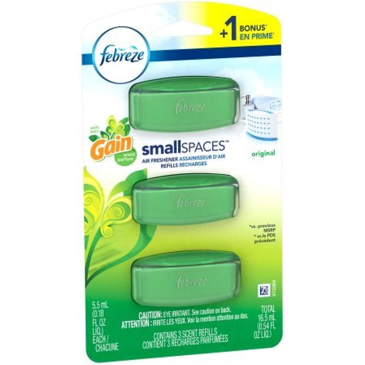 電気ナラーバー暗殺する【Febreze/ファブリーズ】 お部屋用置き型アロマ (3個入り) ゲインオリジナル SmallSpaces Gain Original Scent Air Freshener Refills (5.5ml x 3) [並行輸入品]