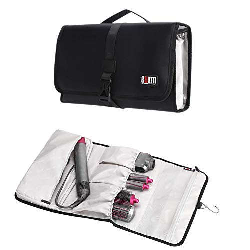 BETTERLE Travel Bag for Dyson Airwrap Styler, Hanging Travel Case With Mesh Bag and Elastic Pouch Large Capacity Waterproof Organizer Case Carrying Storage Bag For Dyson Hair Curler