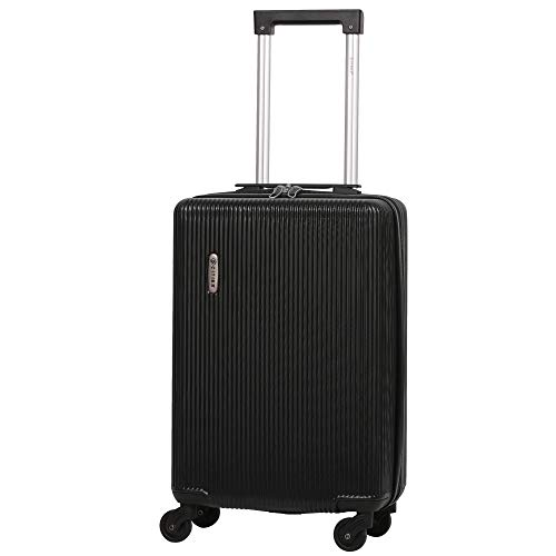 5 Cities Lightweight ABS Hard Shell Carry On Cabin Hand Luggage Suitcase with 4 Wheels, Approved for Ryanair, Easyjet, British Airways