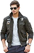 H.T.Niao Army Military Jackets for Men Winter Camouflage Imported Army Design Style Cotton Casual Slim Fit Stand Collar Coat Latest Fashion (8203 Green)