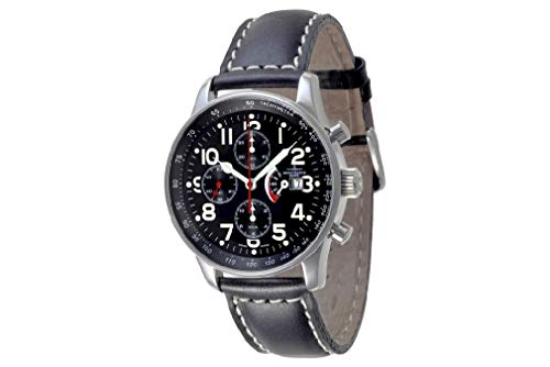 Zeno Watch Basel Herren Uhr Analog Automatik mit Leder Armband P557TVDPR-a1