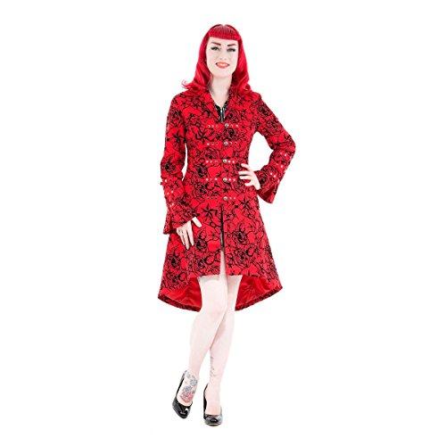 H&R London Abrigo Corto Tattoo Coat Red
