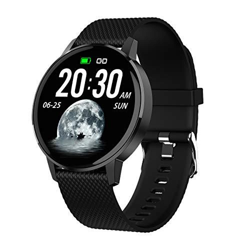 ITAL Smartwatch G3 / Reloj Inteligente con Pantalla Táctil a Color de 1,3' / Gadget Deportivo de Muñeca Cuenta Pasos, Calorías, Distancia, Sueño, Pulsómetro (Negro)