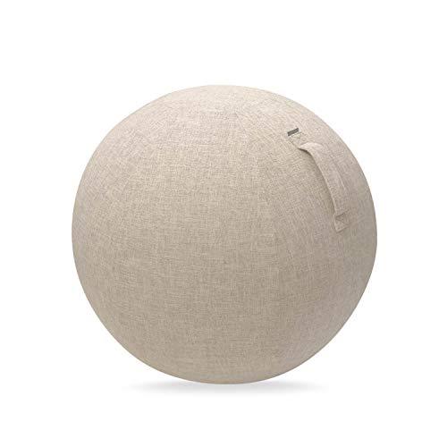 エレコム バランスボール カバー 55cm 持ち運びに便利なハンドル付き ベージュ HCF-BBC55BE