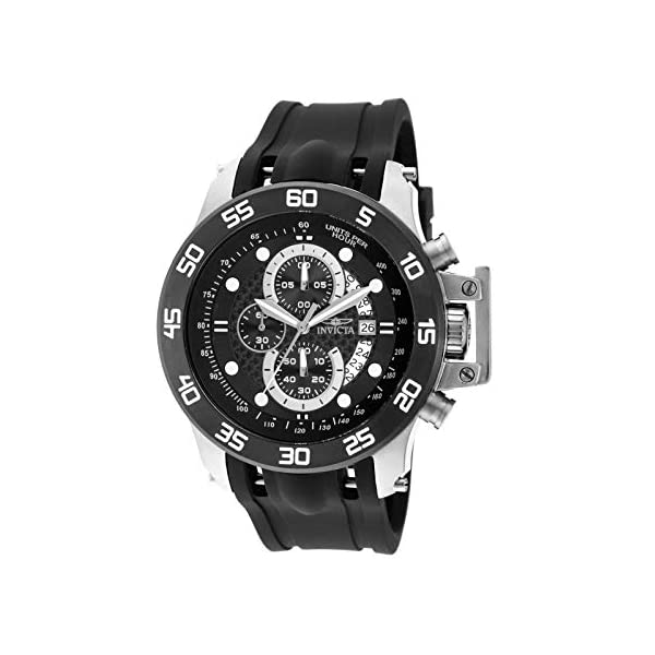 Invicta Men's I-Force 51mm Stainless Steel Chronograph Quartz Watch with Black...