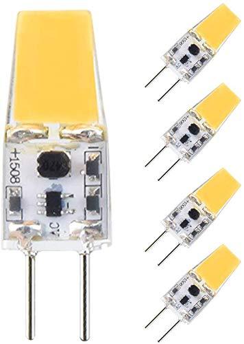 Bonlux 3W Bombilla G6.35 GY6.35 LED 12V Bi-Pin Lámpara con 300lm, 35W Equivalente (5-Unidades, Luz Cálida 3000K)