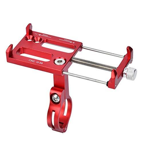COHU Soporte para teléfono móvil de Bicicleta, Soporte de Montaje para teléfono móvil de Bicicleta sólida de aleación de Aluminio, Estable y Firme Duradero y Resistente al(Red)