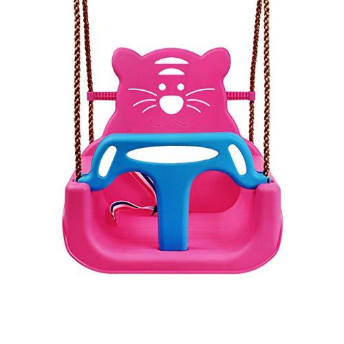 MQH Columpio Asiento Infantil para bebés de Interior y Columpio Swing para niños Asiento de Columpio (Color : Pink)