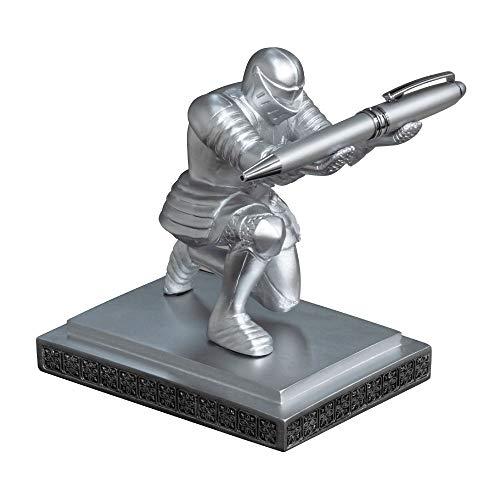 騎士のペン立て EXECUTIVE KNIGHT PEN HOLDER ペン置き 重厚感 高級感 雑貨 シルバー