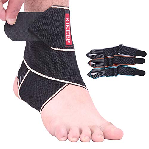 Ankle Support,Adjustable Ankle Brace Breathable Nylon Material Super Elastic and Comfortable,1 Size Fits All, Protects Against Chronic Ankle Strain, Sprains Fatigue (Gray(1 Pair))