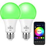 MagicLight WiFi Smart Light Bulb, Dimmable, Multicolor, Wake-Up Lights, No Hub Required, Compat…
