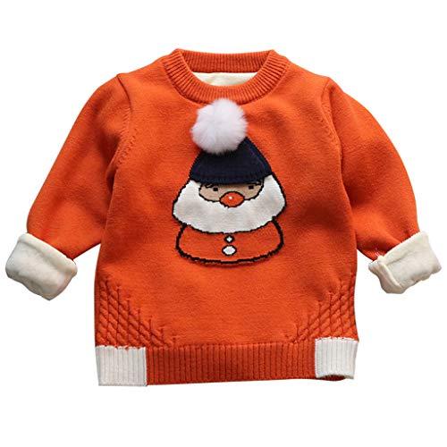 Maglione di Natale per Bambini Bambino Pullover Babbo Natale Maglieria Costumi