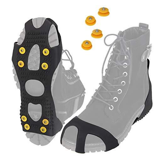 ALPIDEX Anti Rutsch Schuhspikes Ice Grips Schuhkrallen Schnee Spikes Größe 35-47, Größe:M