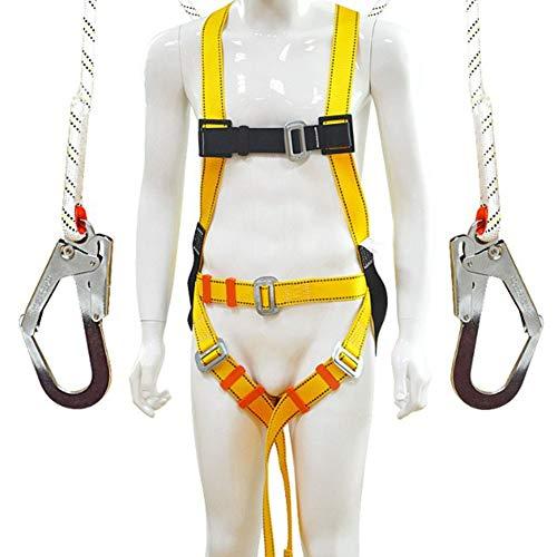 CTEGOOD Safety Absturzsicherung Dachdecker-Set nach CE Fallschutz-Set mit Vollkörper Auffanggurt 1.2m Sicherheits-Seil, Maximalgewicht 100kg