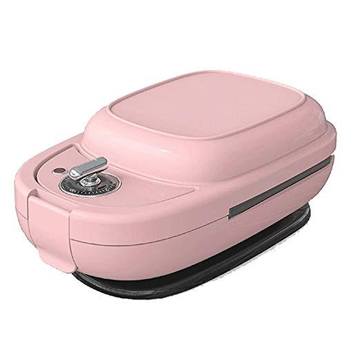 Tostador de Raxinbang Multifunción Sandwich Del Temporizador Automático Mini Hogar Desayuno Pequeño Dona La Galleta Máquina Desayuno Máquina Desmontable 5 Bandejas For Hornear (Color : Pink)