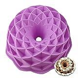 Molde para pastel de silicona con forma nido resistente a altas temperaturas anillo morado redondo...
