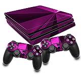RX022 - Juego de pegatinas protectoras para videojuegos y mandos (pegatinas de vinilo contra arañazos, ajuste perfecto, autoadhesivas, para PS4 Pro, n.º 5, color rosa poligonal)
