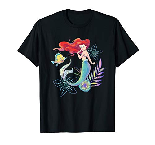 Disney The Little Mermaid Ariel and Flounder Sea T-Shirt