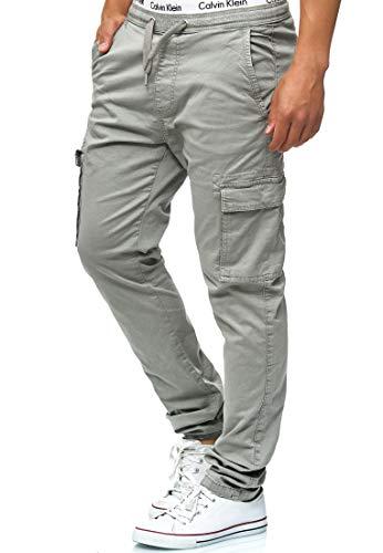 Indicode Herren Broadwick Cargohose aus Baumwolle mit 6 Taschen   Lange Regular Fit Cargo Hose Baumwollhose Freizeithose Wanderhose Trekkinghose Pants Outdoorhose für Männer Lt Grey XL