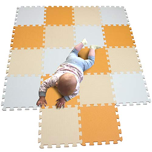 MQIAOHAM 18 pz fiori giallo-viola schiuma per bambini gioca mat playmat palestra coperta del bambino del bambino stuoie per neonati play-mat bambino P02701G18