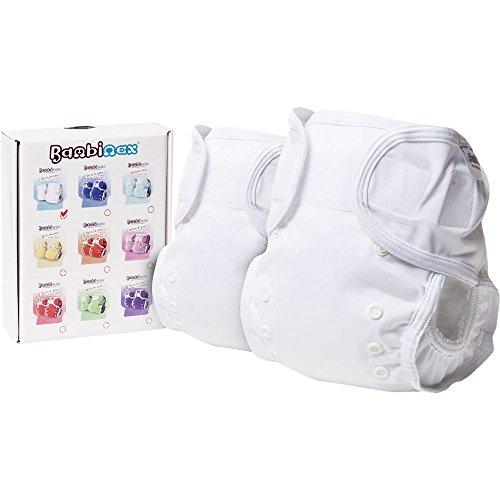 Bambinex ** 2er SparPack ** OneSize Wrap - Die mitwachsende Überhose für den Stoffwindel-Popo - für nahezu ALLE Stoffwindeln z.B. Bambinex, Mullwindeln, Bindewindel etc. / OneSize 3-15kg (Weiß)