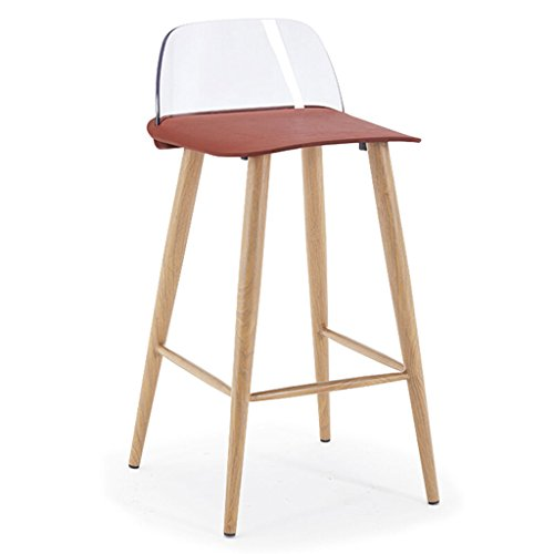 Bar Höhe Stühle Küche Hocker Theke Höhe Backs Küche Kunststoff Barhocker Stuhl mit 4 Metallbeine Multiple Color Barhocker (Color : 7#)