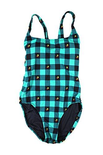 Tommy Hilfiger Fly Dobby Damen-Badeanzug mit Gingham-Karo, Einteiler - Blau - 42