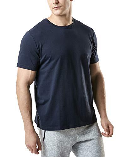 (テスラ)TESLA 半袖 tシャツ ドライ スポーツシャツ メンズ [UVカット・吸汗速乾] ランニング トレーニング フィットネス ジョギング 陸上 部屋着 シャツ メンズ MTS50-NVY_M