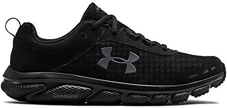UNDER ARMOUR Men's Charged Assert 8 Running Shoe, Black (002)/Black, 12