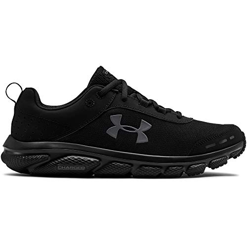 Under Armour Men's Charged Assert 8 Running Shoe, Black (002)/Black, 10